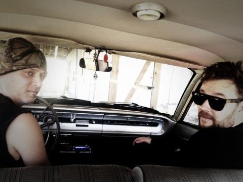 Dudes in a Ford Falcon